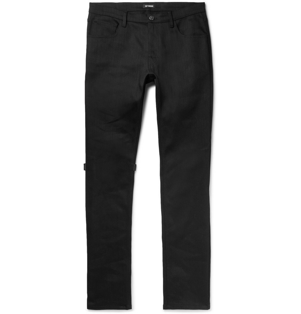Raf Simons - Appliquéd Denim Jeans - Men - Black