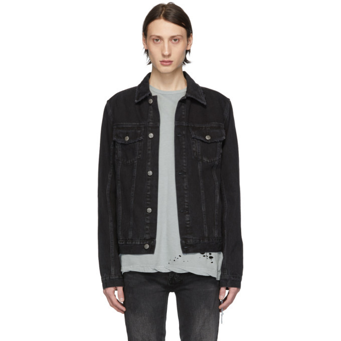 Ksubi Black Denim Classic Sketchy Jacket