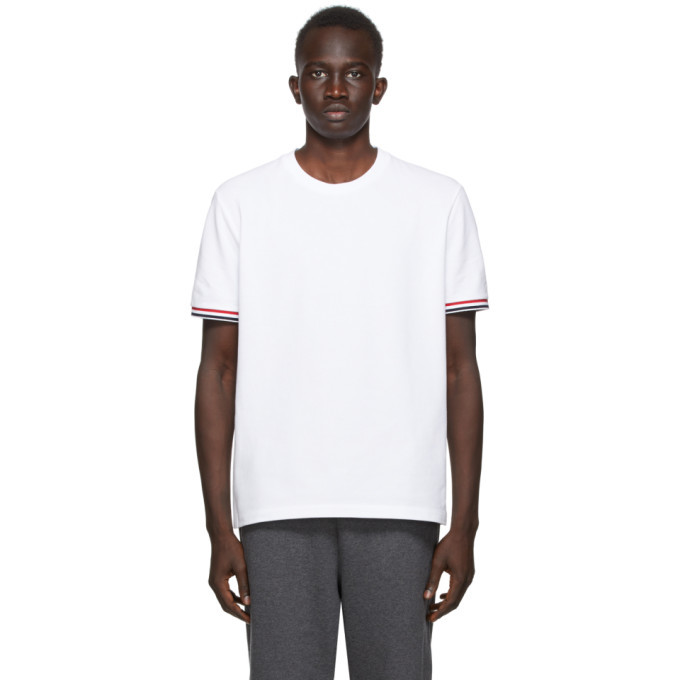 Photo: Thom Browne SSENSE Exclusive White Pique T-Shirt