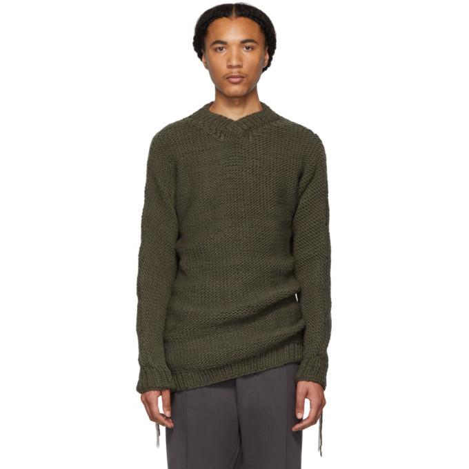 Photo: Boris Bidjan Saberi Grey Wool V-Neck Sweater