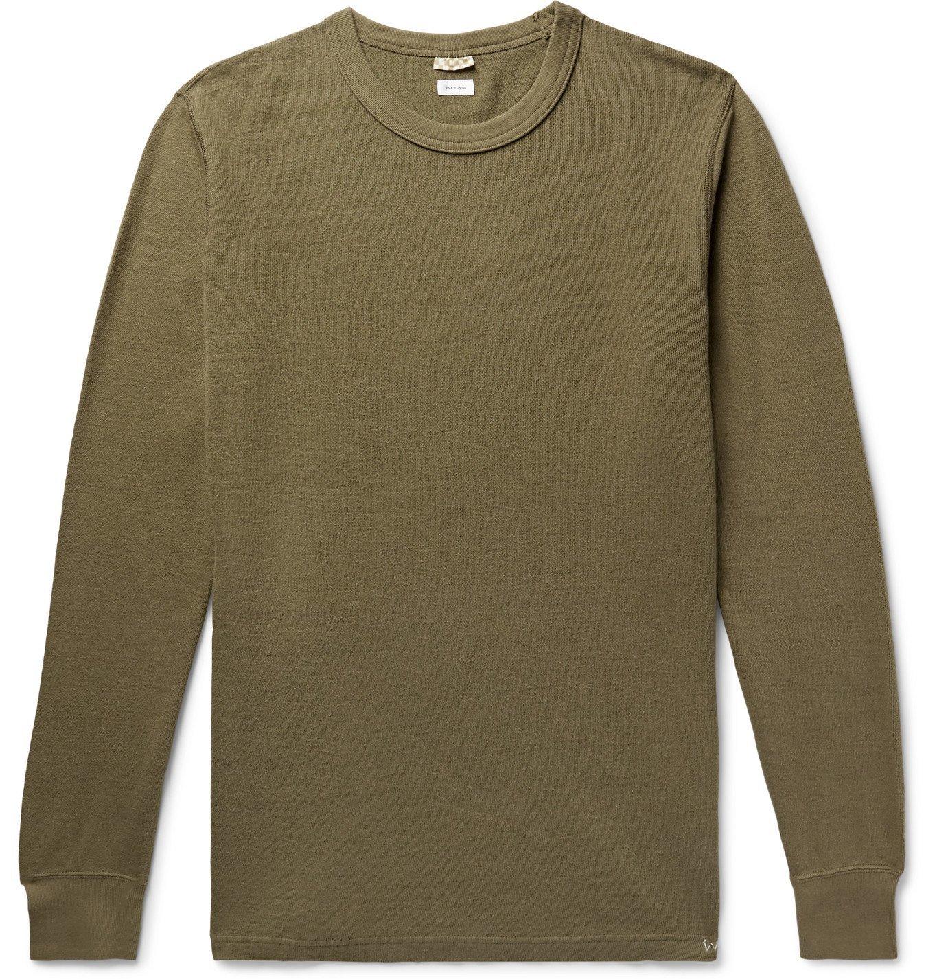 Photo: visvim - Slim-Fit Cotton T-Shirt - Green