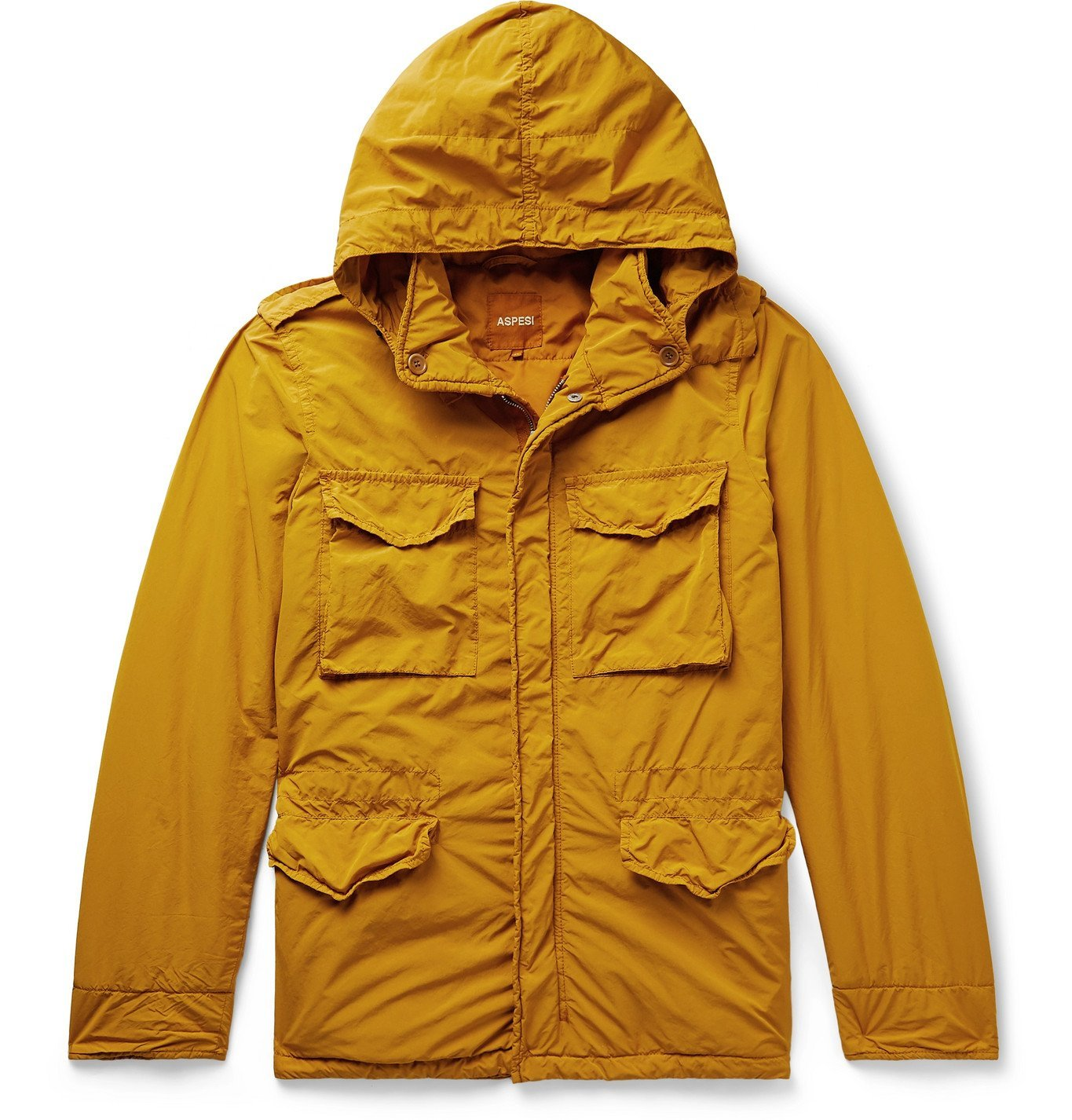 Photo: Aspesi - Minifield Hooded Shell Jacket - Yellow
