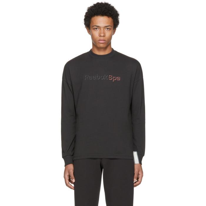 Photo  Reebok × Cottweiler Black Spa Long Sleeve Mock T-Shirt a70d696cf7fe