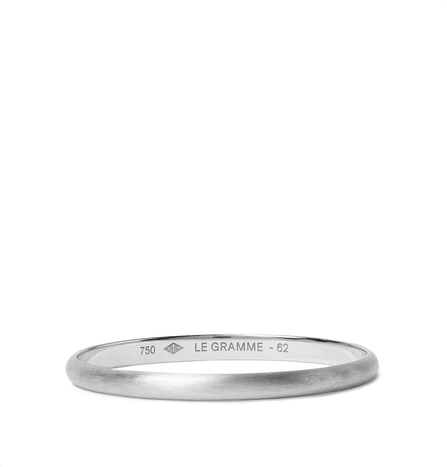 Photo: Le Gramme - Le 1 Brushed 18-Karat White Gold Ring - Silver
