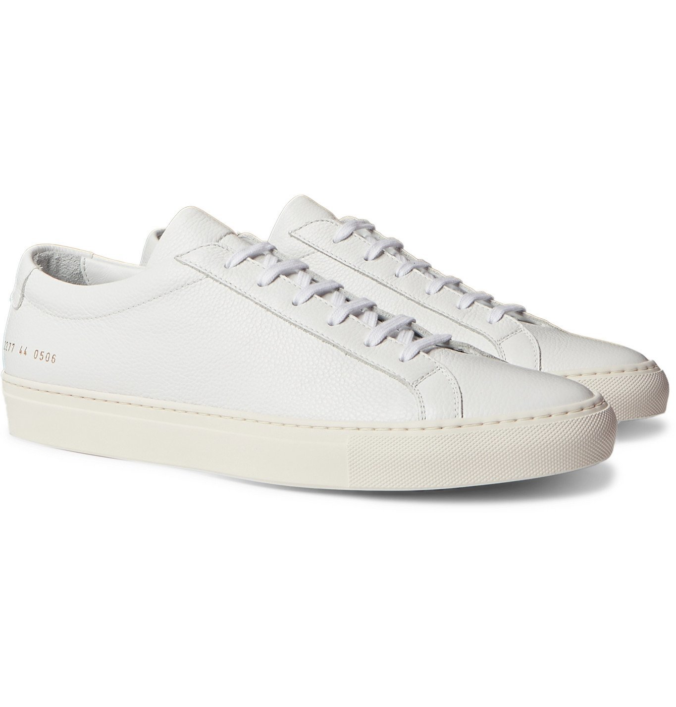 Common Projects - Achilles Pebble-Grain Leather Sneakers - White