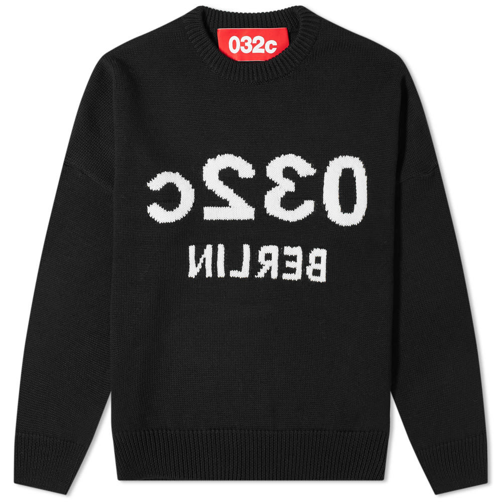Photo: 032c Reverse Logo Crew Knit