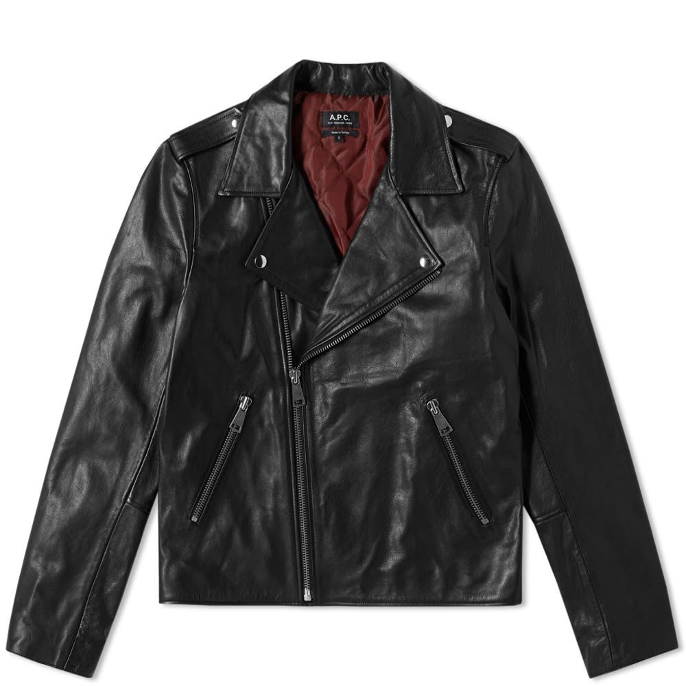 Photo: A.P.C. Leather Biker Jacket