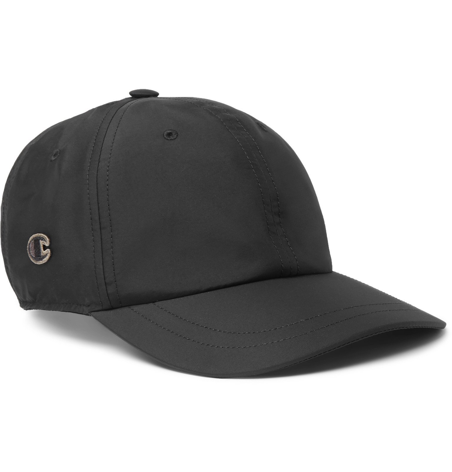 Photo: Rick Owens - Champion Logo-Appliquéd Shell Baseball Cap - Black
