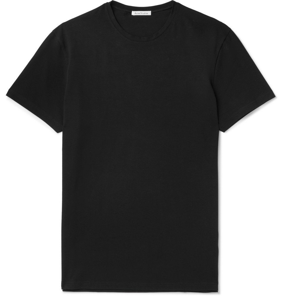 Photo: Acne Studios - Edvin Stretch-Cotton Jersey T-Shirt - Black