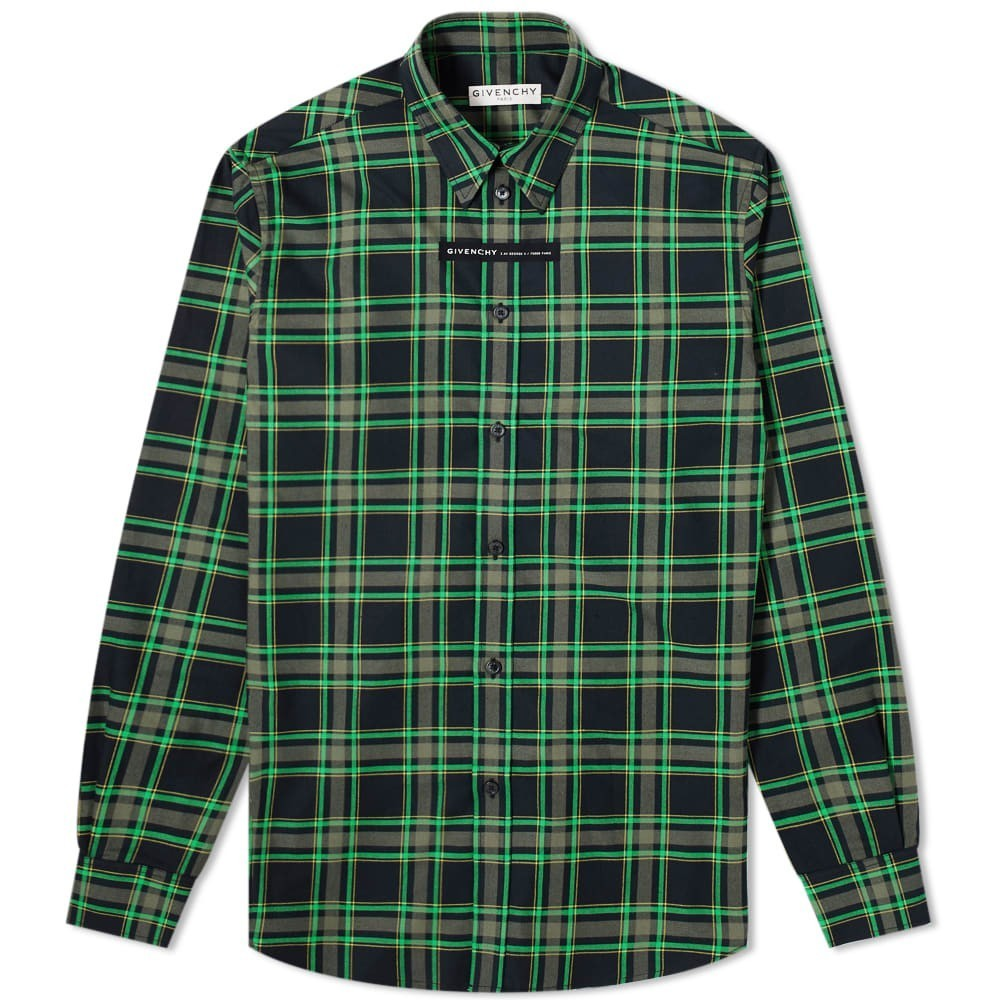 Photo: Givenchy Taped Logo Check Shirt