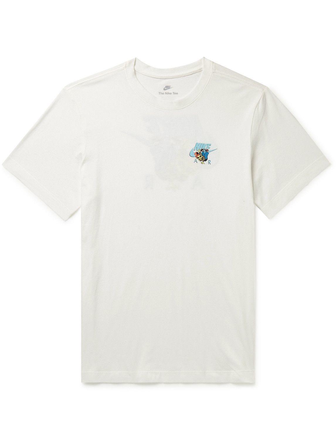 Photo: Nike - Sportswear Alien Air Printed Cotton-Jersey T-Shirt - White