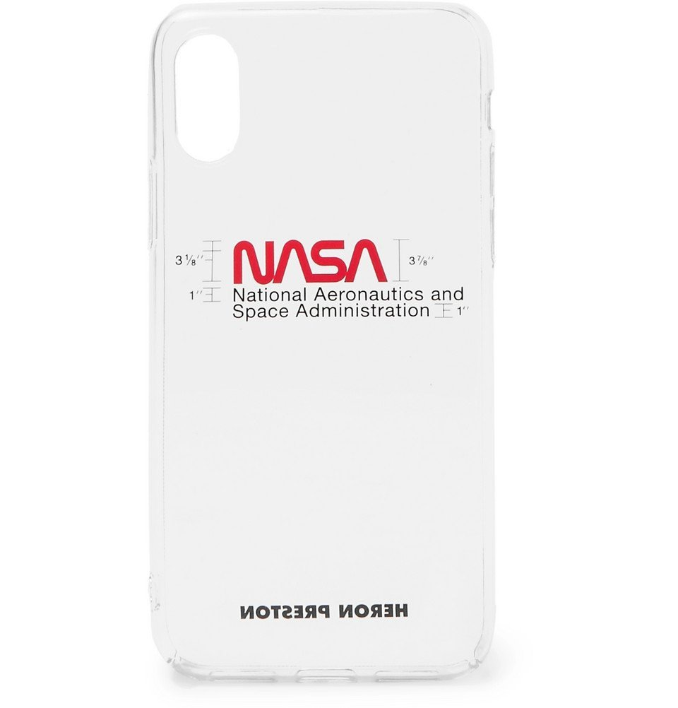 Photo: Heron Preston - Logo-Print iPhone XS Case - Clear
