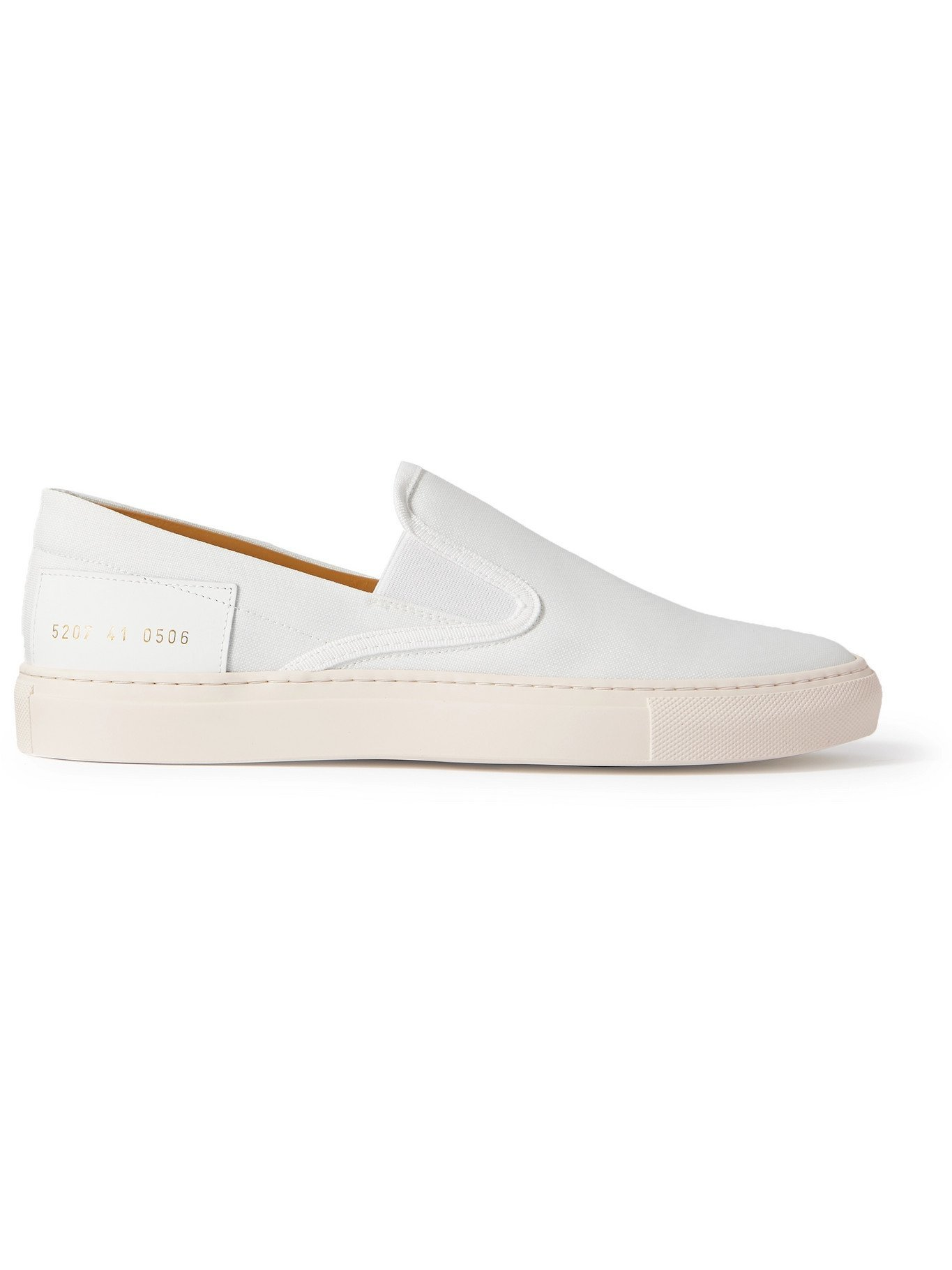 Photo: COMMON PROJECTS - Leather-Trimmed Nylon Slip-On Sneakers - White