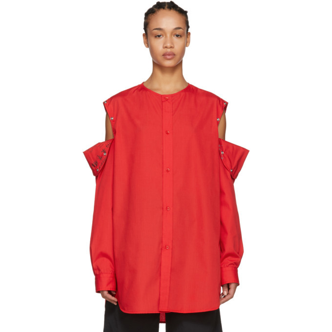 Photo: Raf Simons Red Convertible Button Shirt