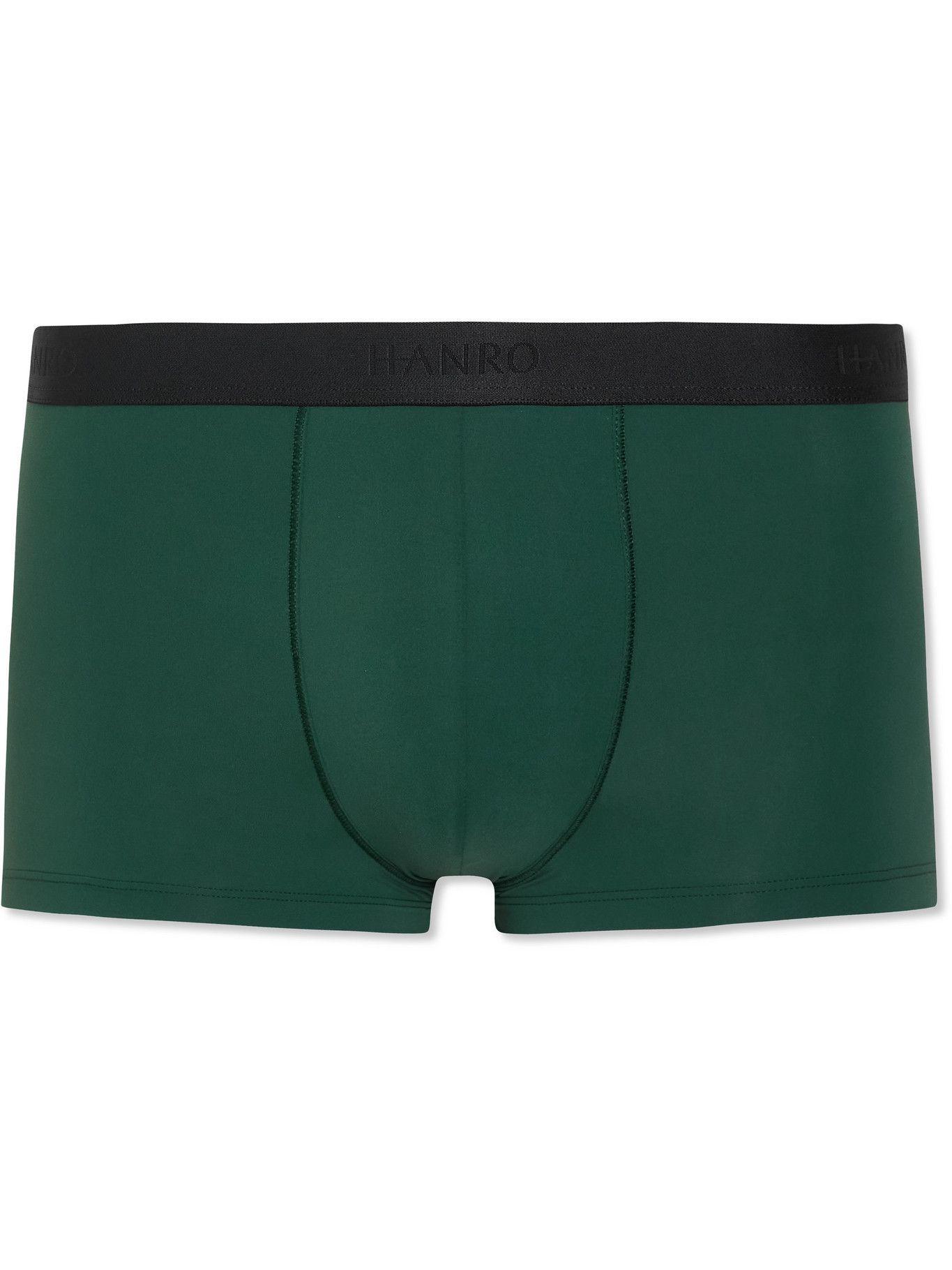 Hanro - Stretch-Jersey Boxer Briefs - Green