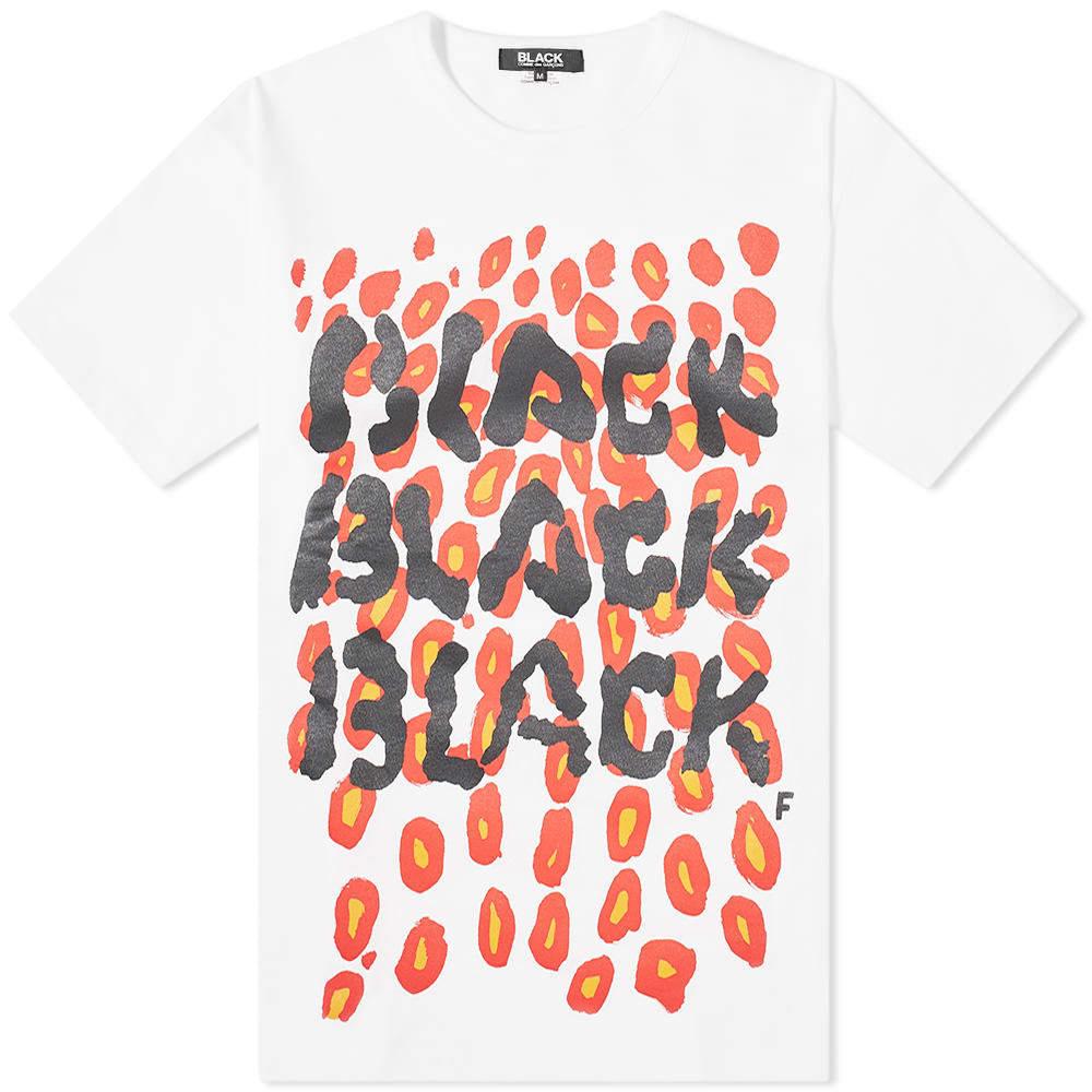 Photo: Comme des Garcons Black Logo Print Leopard Tee