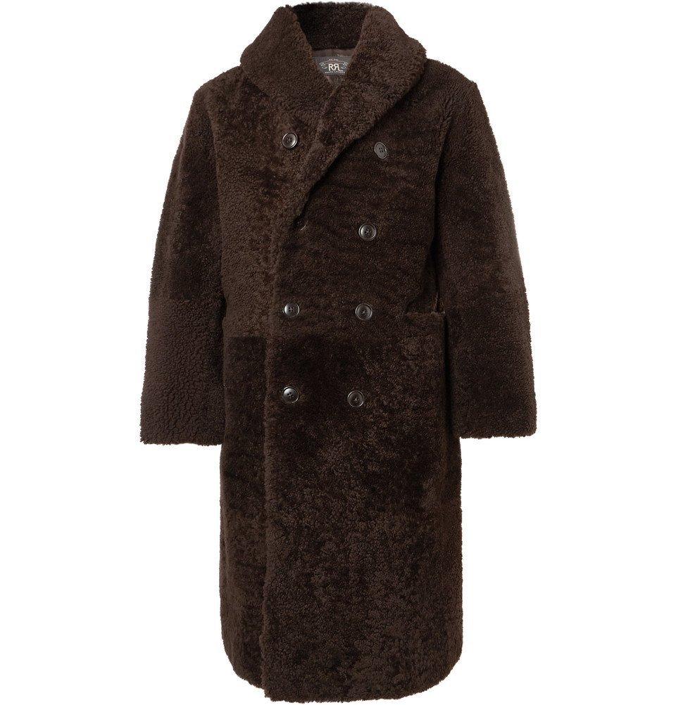 RRL - Hendricks Double-Breasted Shearling Coat - Men - Brown
