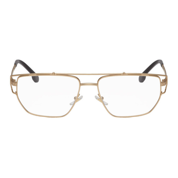 Photo: Versace Gold Greek Wire Glasses