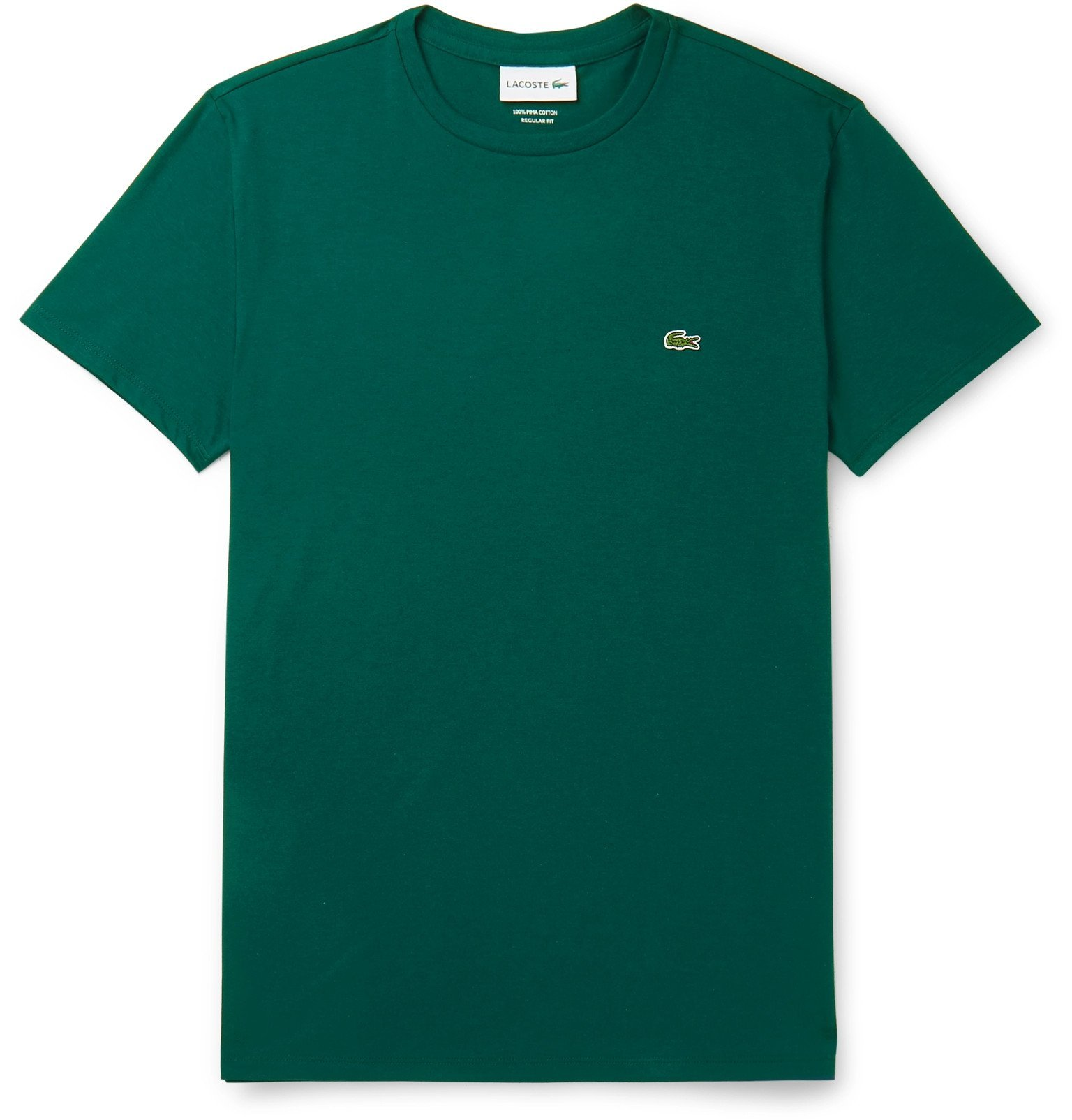 Photo: Lacoste - Pima Cotton-Jersey T-Shirt - Green