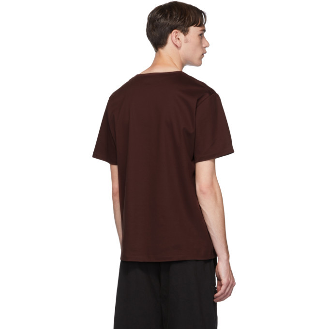 Lemaire Brown Mercerized T-Shirt