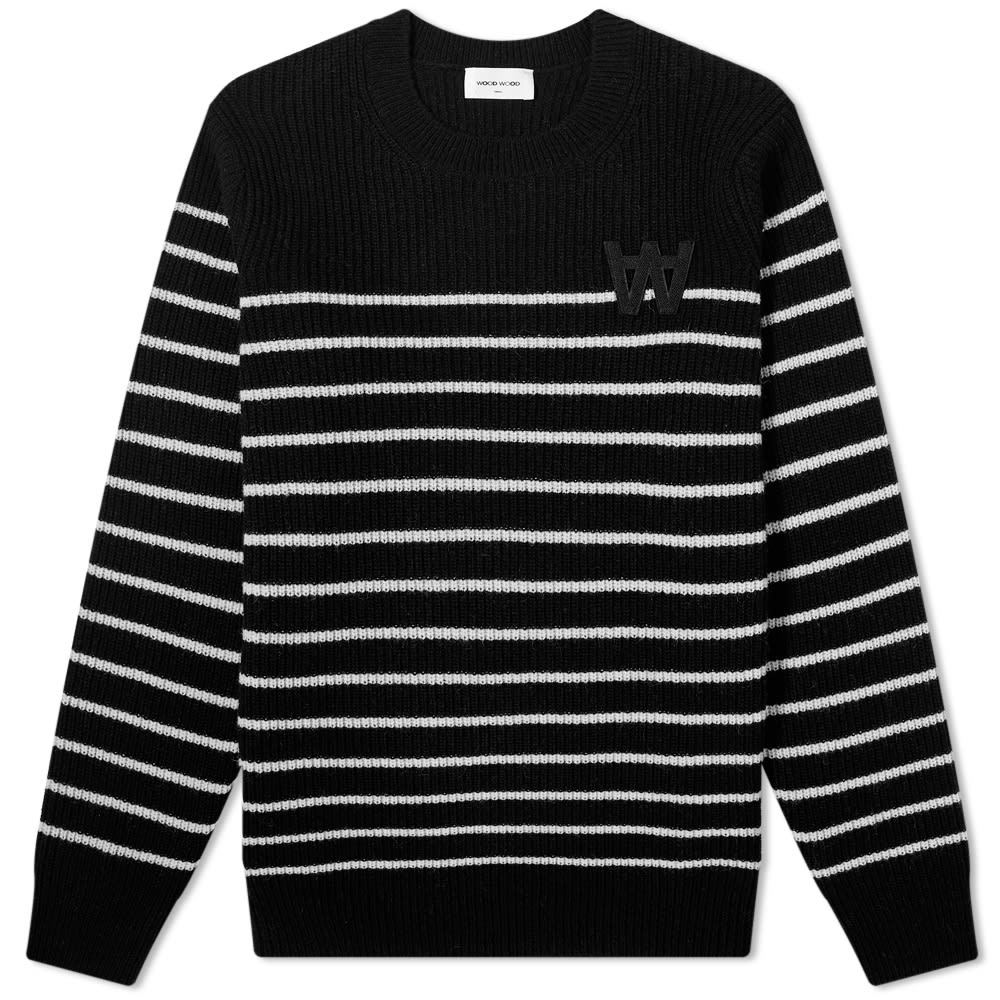 Wood Wood Louis Striped AA Crew Knit