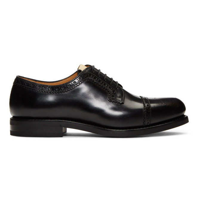 Photo: Gucci Black Leather Brogues