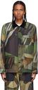 Sacai Green KAWS Edition Camo Shirt