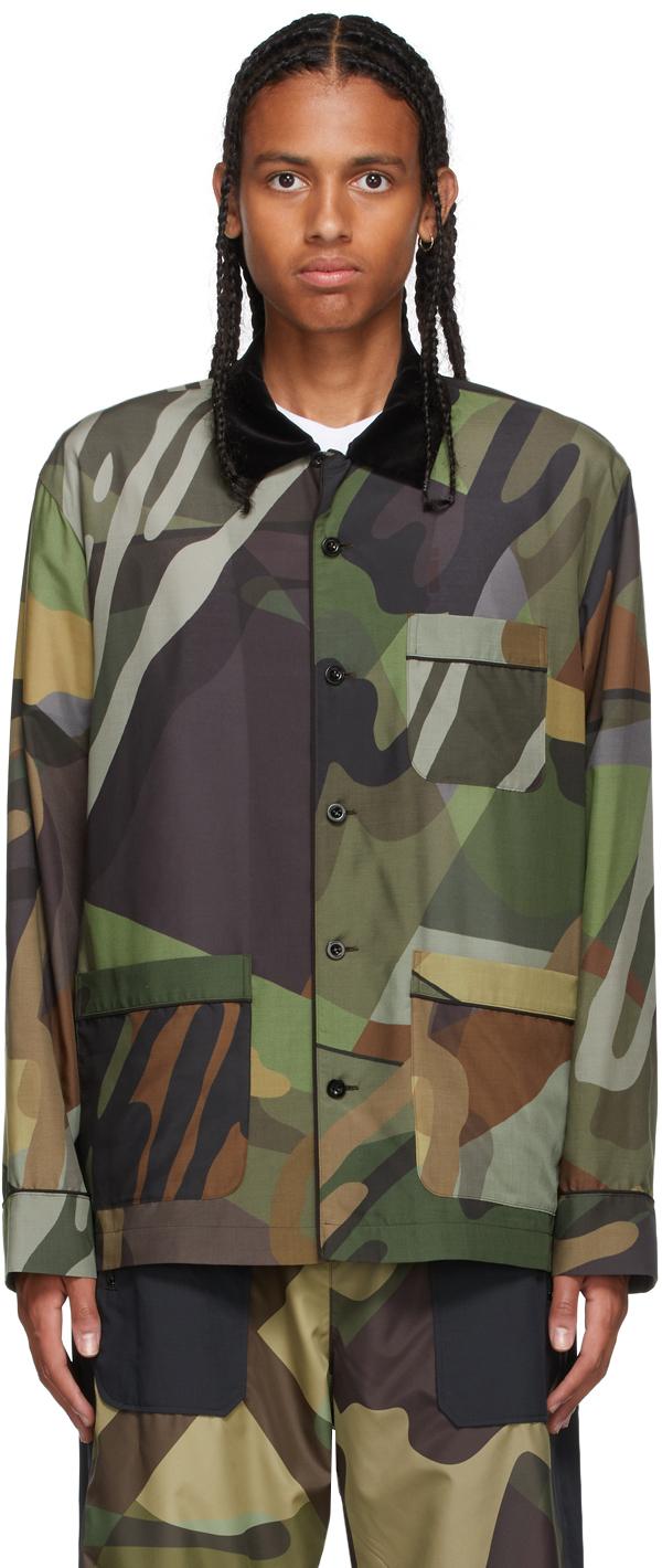 Photo: Sacai Green KAWS Edition Camo Shirt
