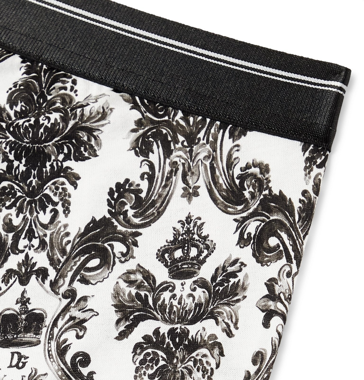 Dolce & Gabbana - Printed Cotton-Jersey Boxer Briefs - Multi