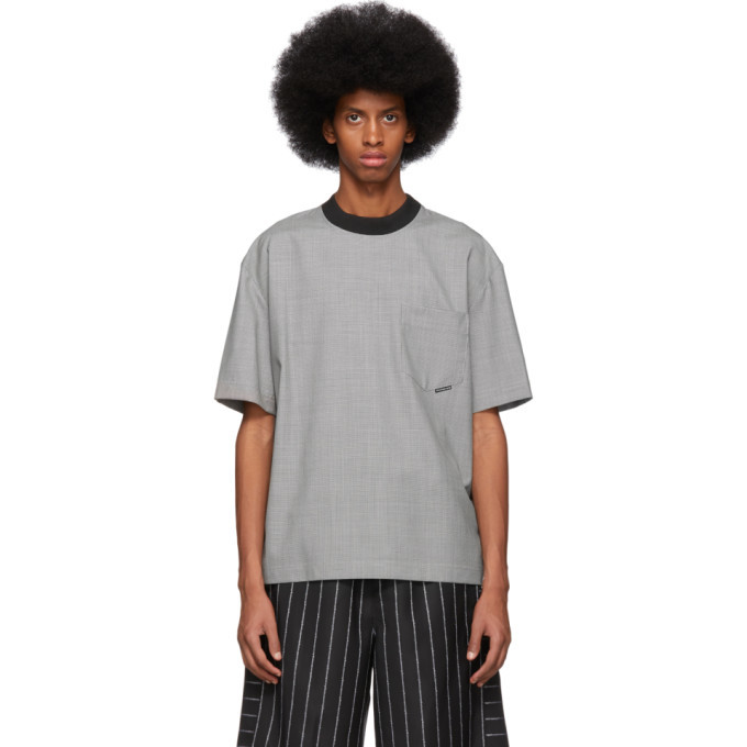 f6951d58f Photo: Alexander Wang Black and White Wool Houndstooth T-Shirt