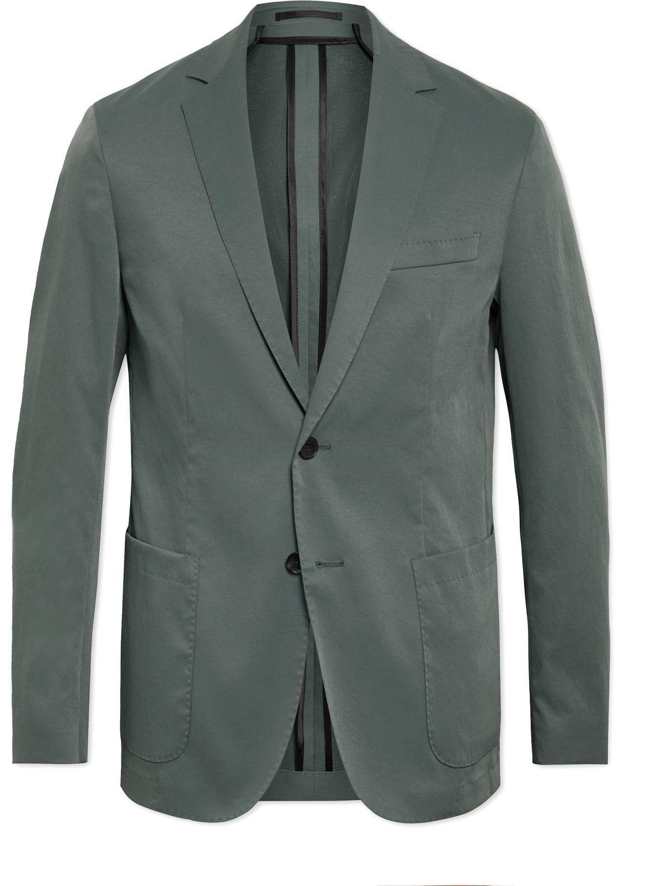 Photo: HUGO BOSS - Slim-Fit Unstructured Twill Suit Jacket - Green