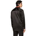 Dunhill Black Silk Duchess Wrap Shirt