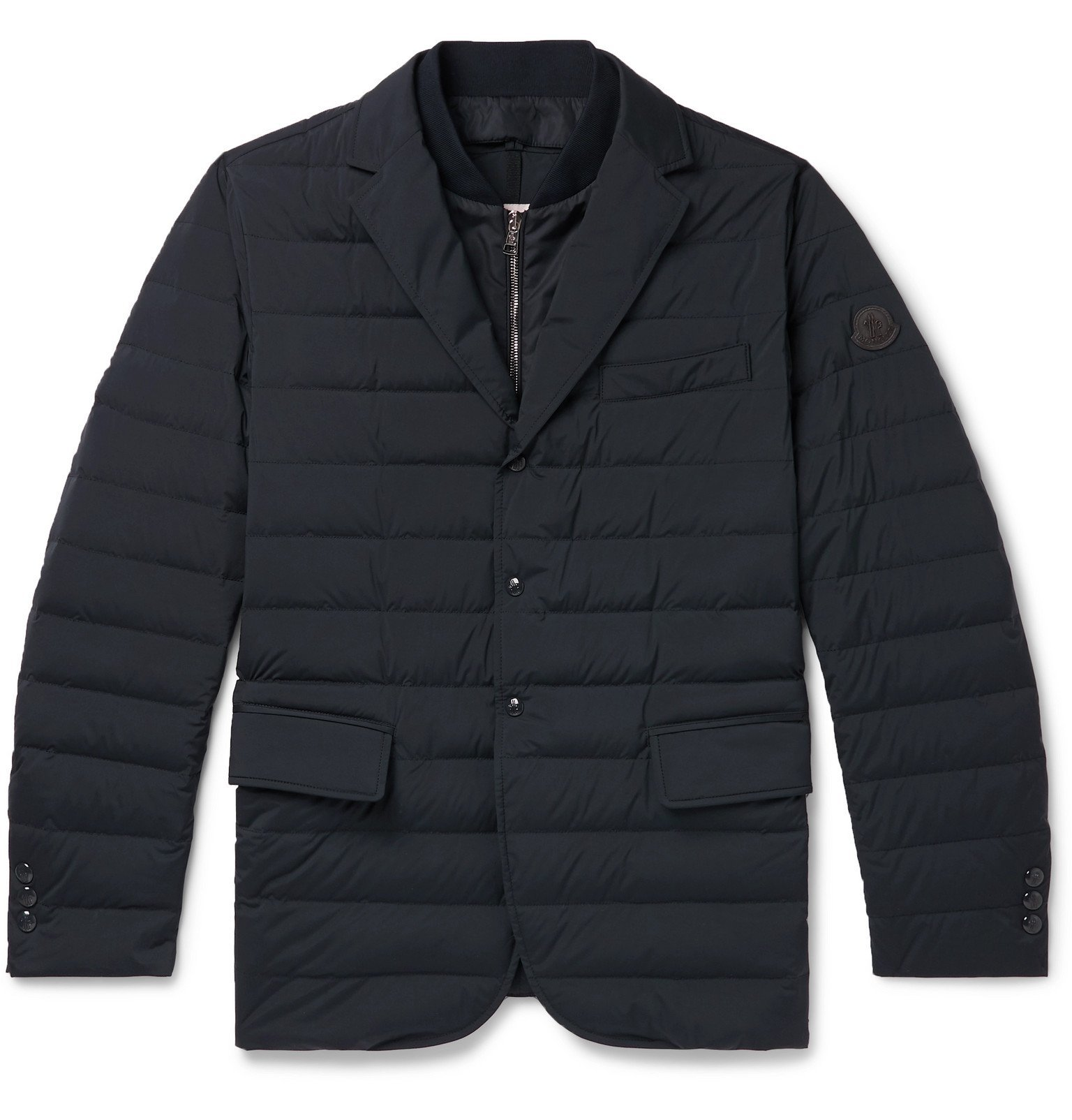 Photo: Moncler - Slim-Fit Quilted Shell Down Blazer - Blue
