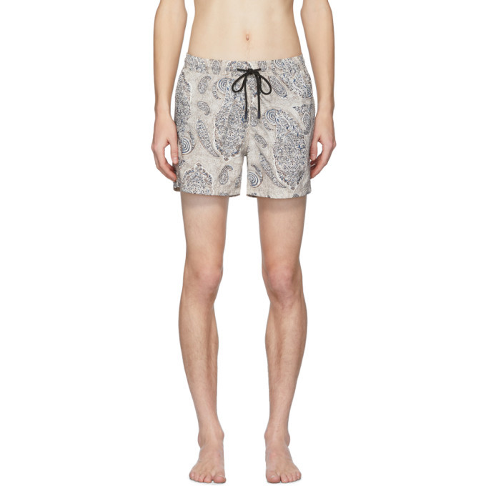 Photo: Etro Beige Paisley Swim Shorts
