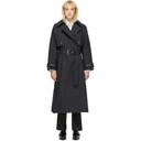 3.1 Phillip Lim SSENSE Exclusive Black Dolman Sleeve Trench Coat