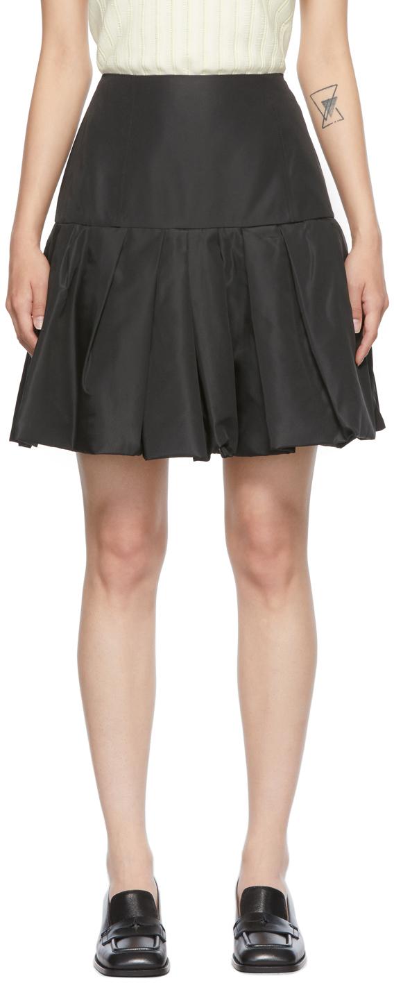 Photo: 3.1 Phillip Lim Black Taffeta Bubble Hem Miniskirt