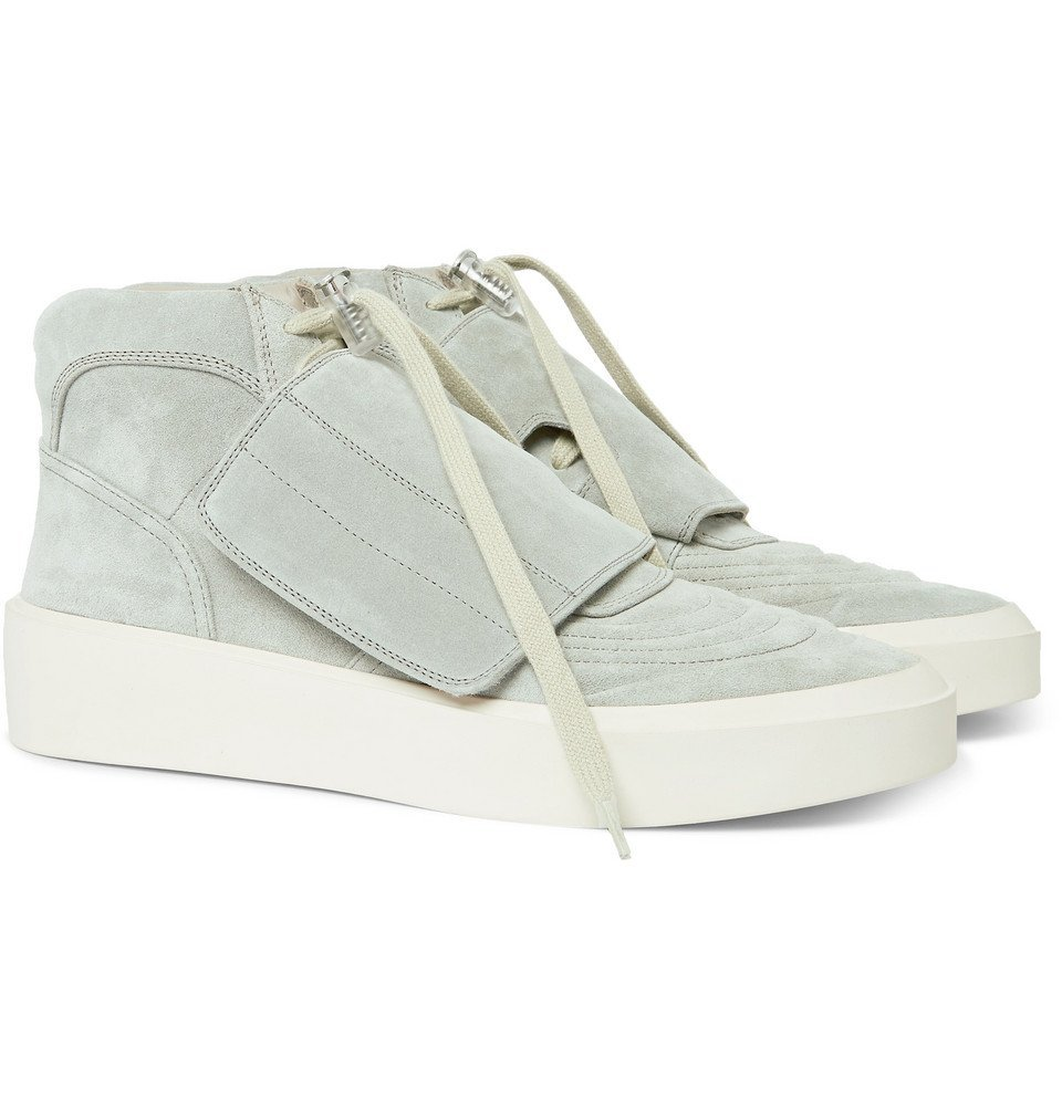 Photo: Fear of God - Brushed-Suede High-Top Sneakers - Gray