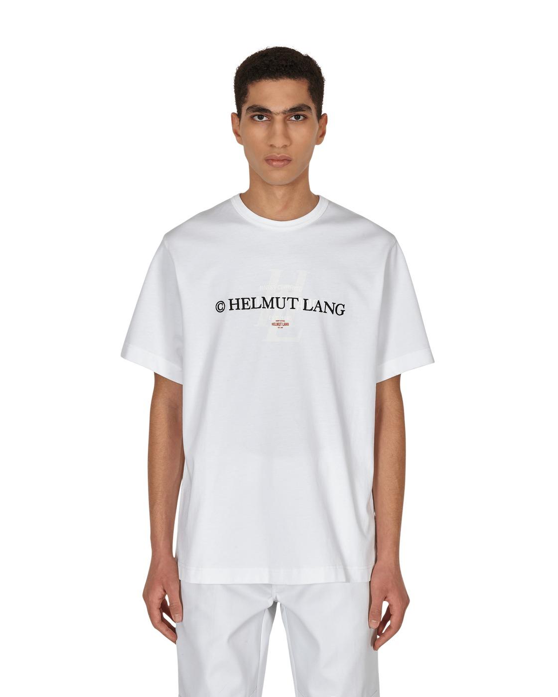 Photo: Helmut Lang Layer Logo T Shirt White