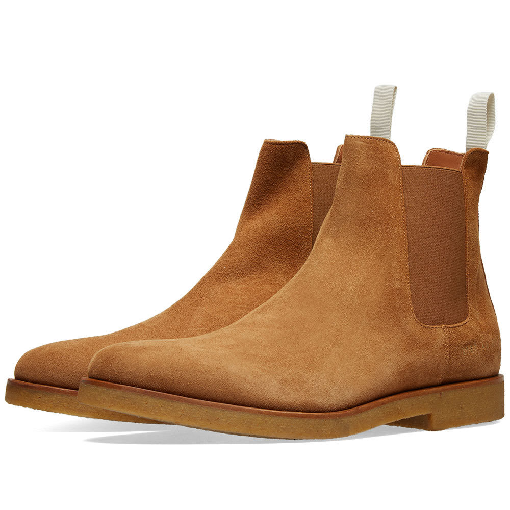 Photo: Common Projects Chelsea Boot Suede Tobacco