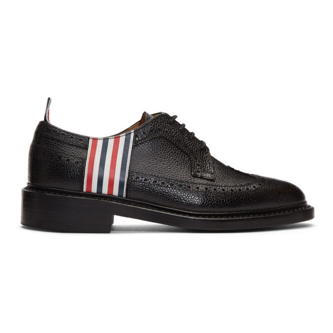 Photo: Thom Browne Black 4-Bar Classic Longwing Brogues