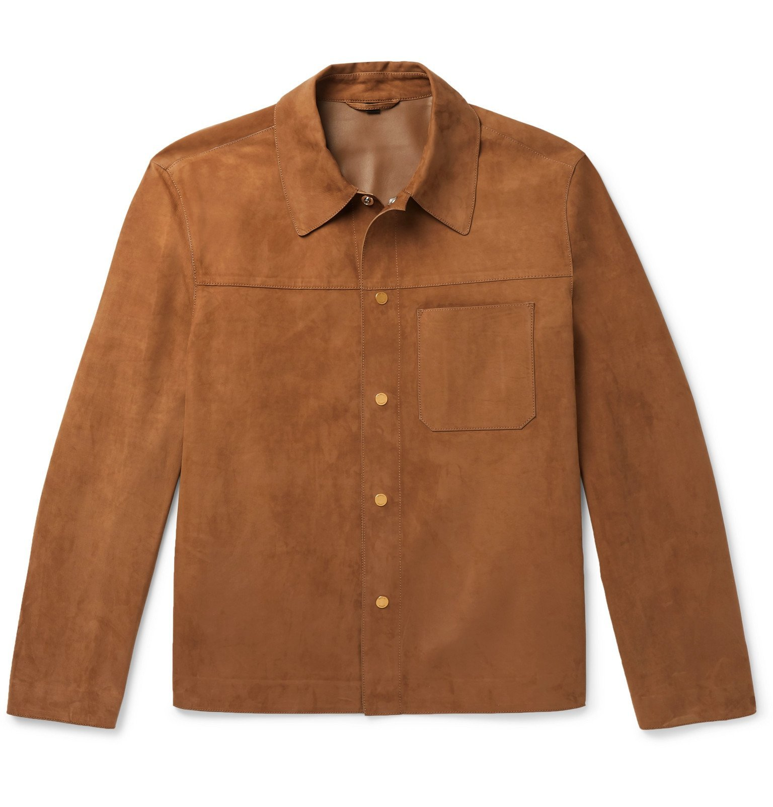 Dunhill - Suede Overshirt - Brown