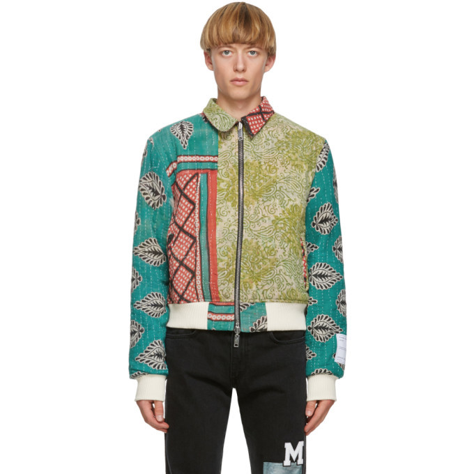 Photo: Mr. Saturday Reversible Multicolor Quilted Bomber Jacket