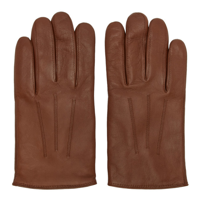 Photo: Hugo Brown Leather Gloves