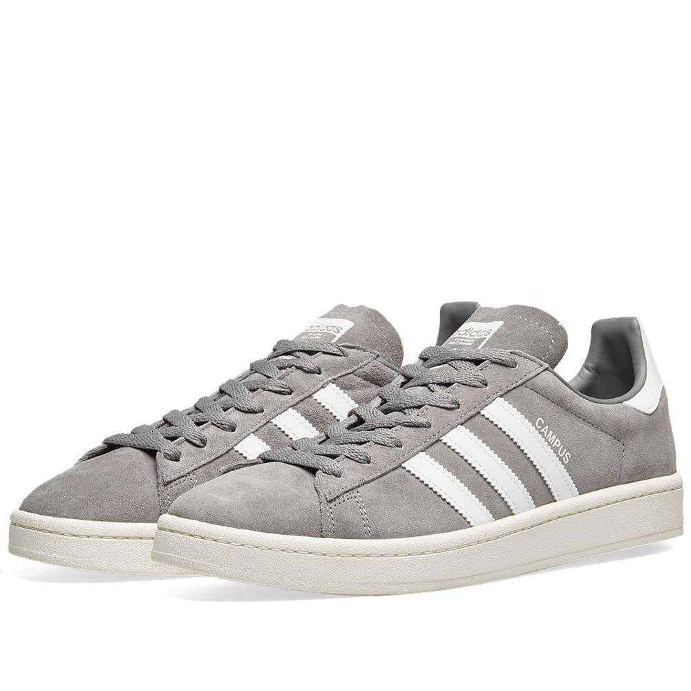 Adidas Campus Grey Three \u0026 Chalk White