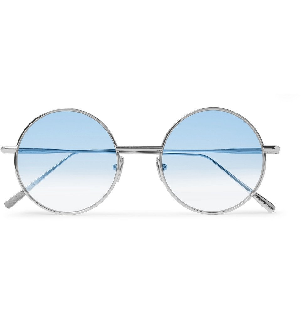 Photo: Acne Studios - Scientist Round-Frame Matte-Metal Sunglasses - Blue