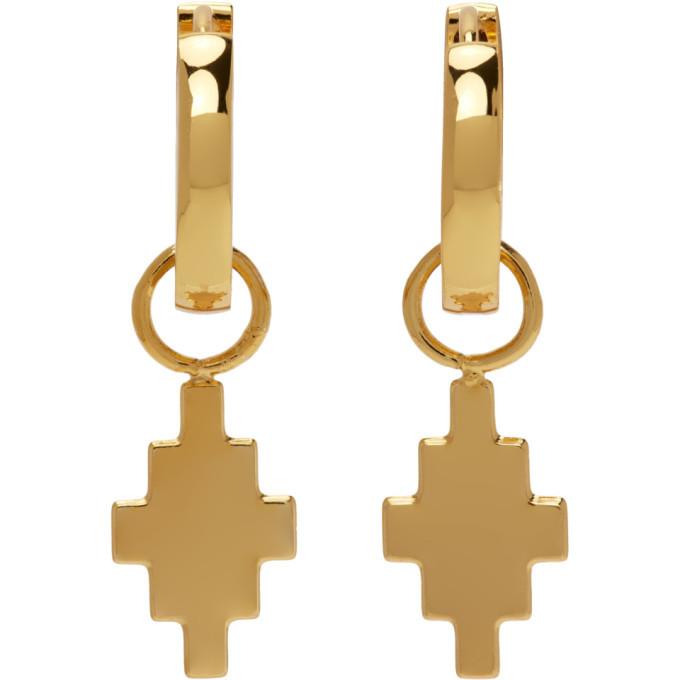 Photo: Marcelo Burlon County of Milan Gold Cross Pendant Earrings