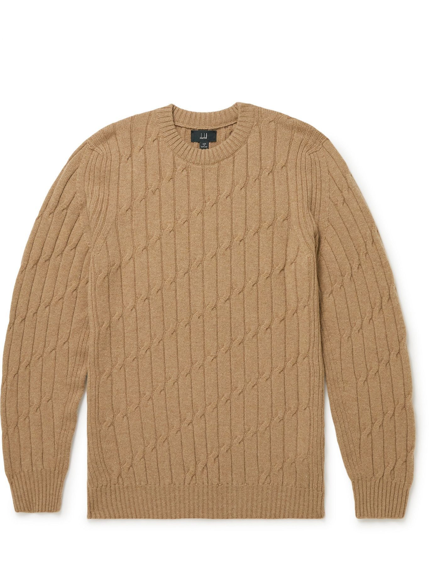Dunhill - Cable-Knit Cashmere Sweater - Brown