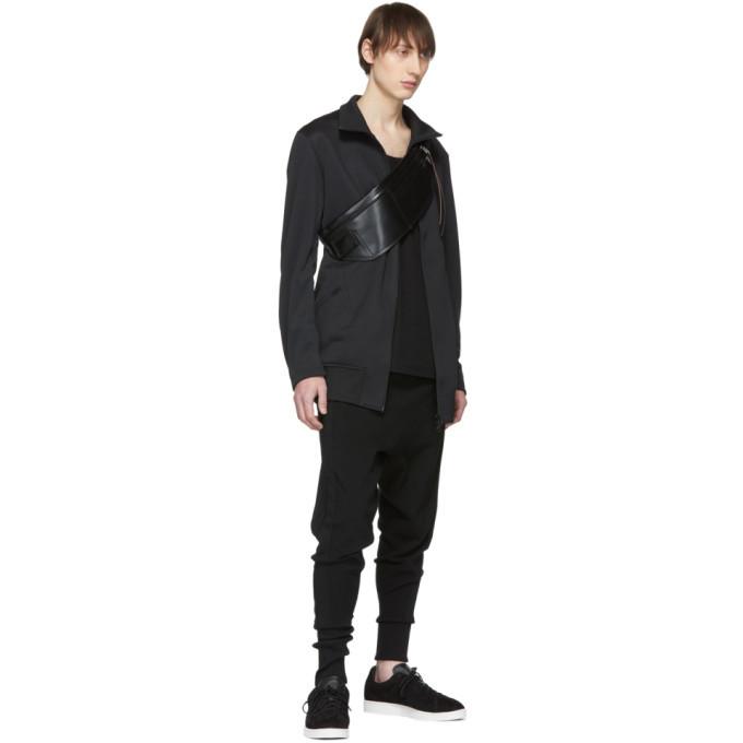 Y-3 Black Suspender Long Track Jacket