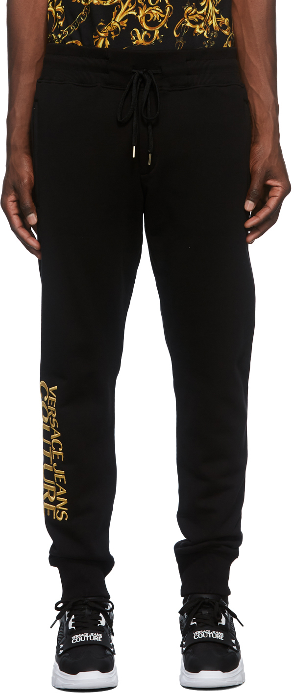 Photo: Versace Jeans Couture Black Logo Sweatpants