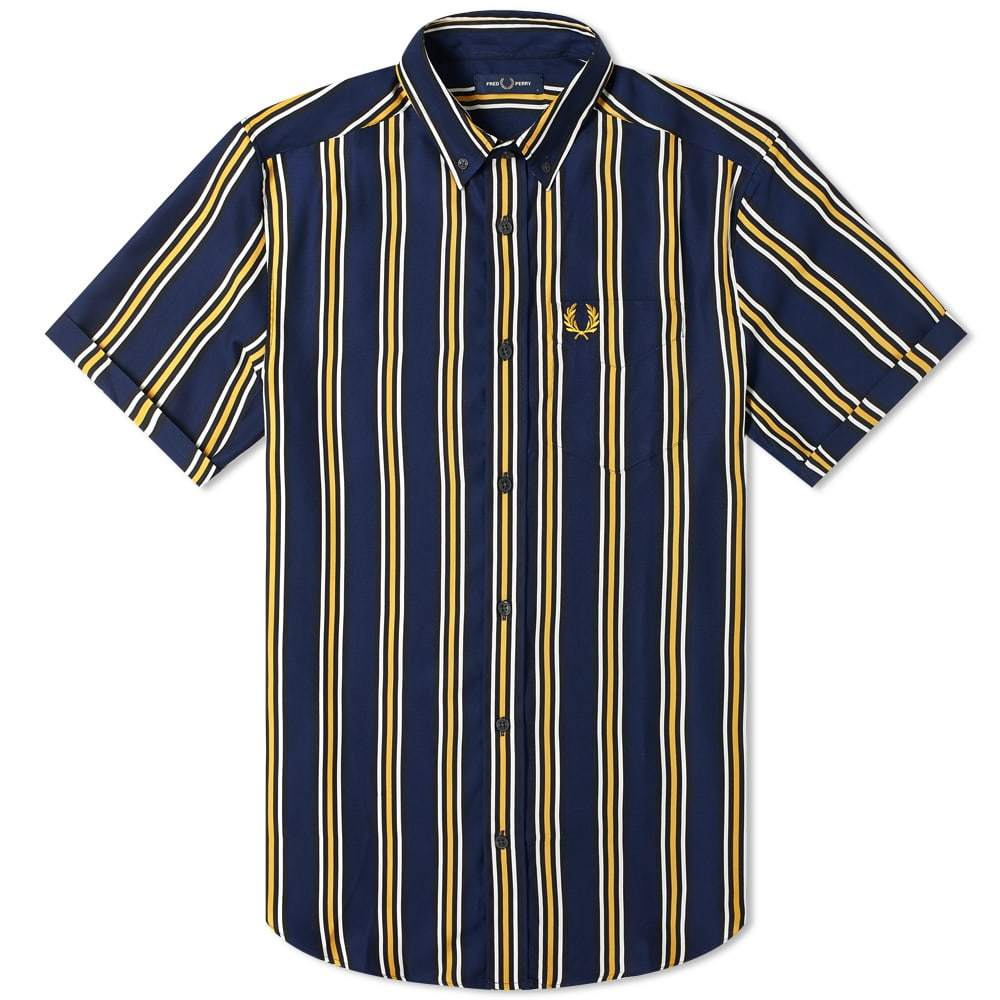 Photo: Fred Perry Authentic Short Sleeve Vertical Striped Shirt